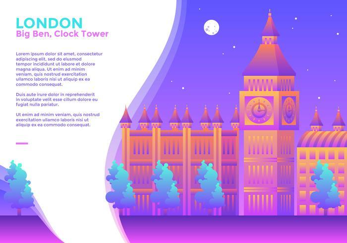 Big Ben Klocktorn London Vector