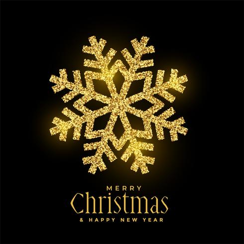 gyllene glitter snöflingor jul bakgrund