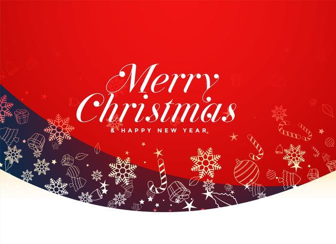 rosso merry christmas festival sfondo design