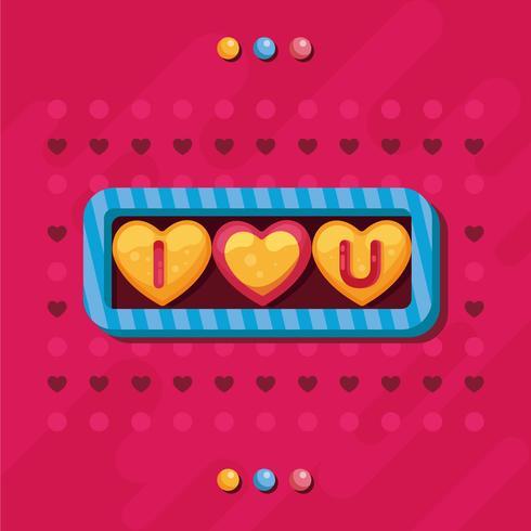 Valentine godis hjärtan Vector