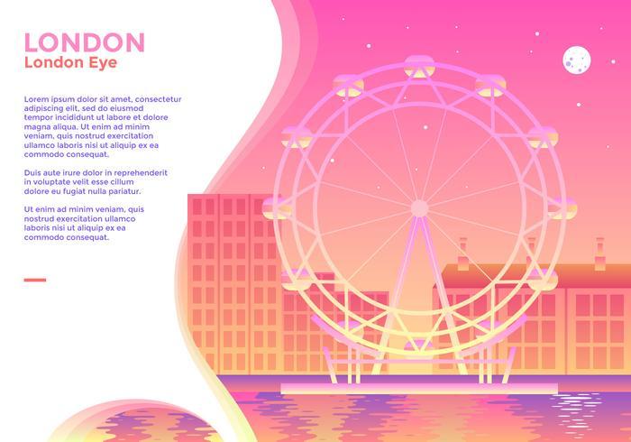 London Eye Vector