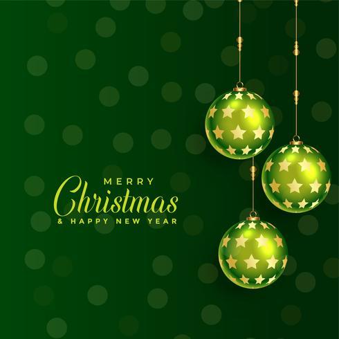 beau fond de boule de Noël vert
