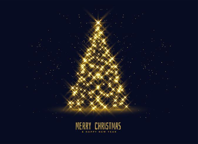 scintille dorate sfondo albero di Natale