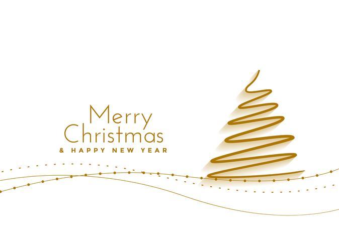 feliz navidad mano dibujado fondo de árbol