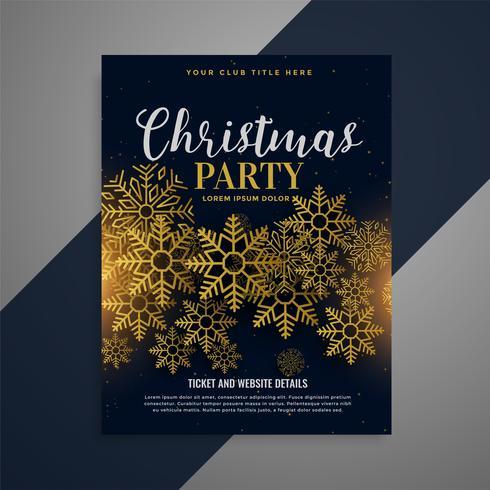 jätte jul flygblad broschyr med gyllene snöflingor
