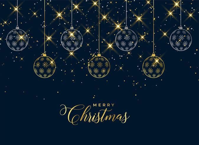 belles boules de Noël suspendues étincellent fond
