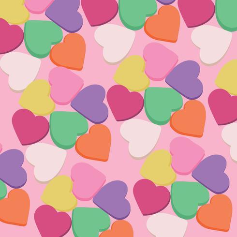 Bonbons coeurs fond