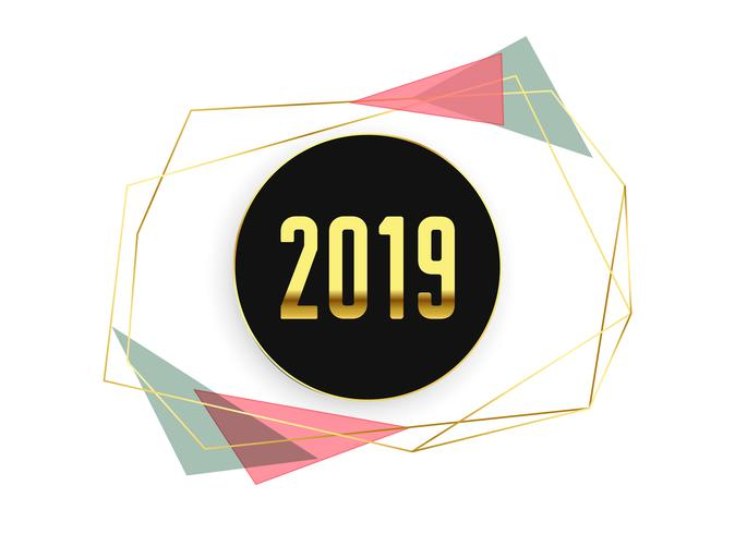 stijlvolle 2019 minimale gelukkig nieuwjaar achtergrond