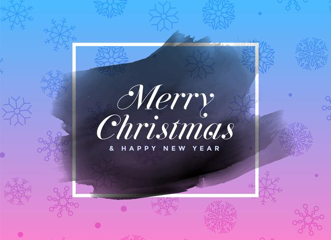 Fondo marco acuarela feliz Navidad