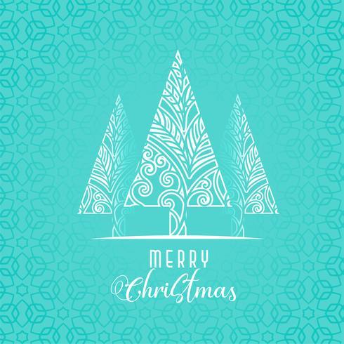 décoratif arbre de Noël sur fond bleu