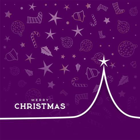 arte de línea diseño de árbol de navidad