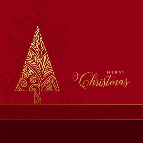 fundo de decoração dourada árvore de natal floral