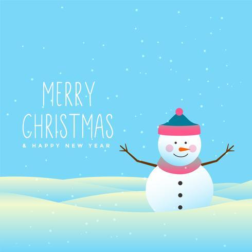 feliz muñeco de nieve feliz Navidad y el fondo de invierno