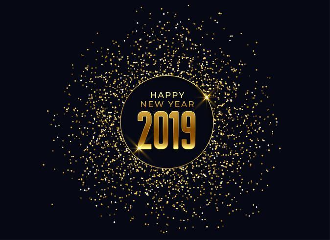 2019 feliz ano novo fundo de celebração com glitter e spar