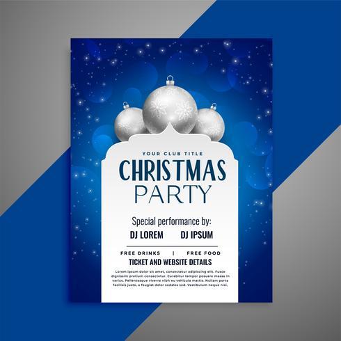 modèle de conception élégante invitation de Noël flyer
