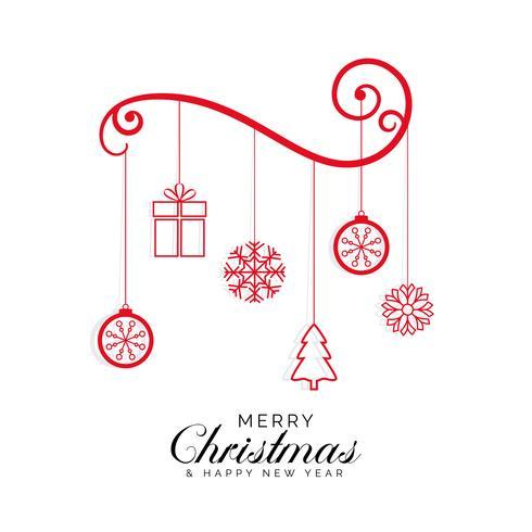 élégant fond de conception de voeux joyeux Noël