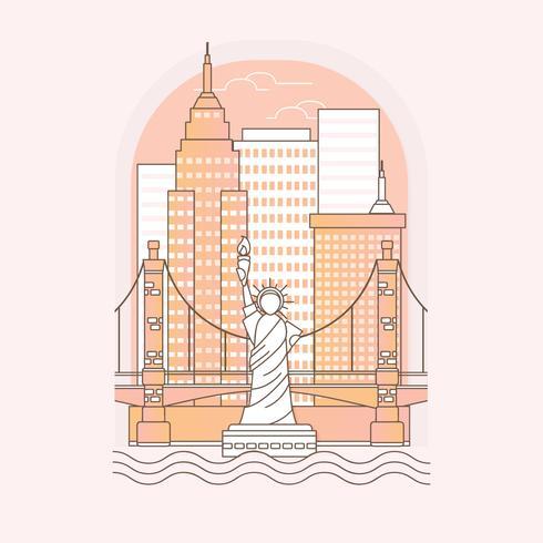 Ilustración del esquema de Nueva York