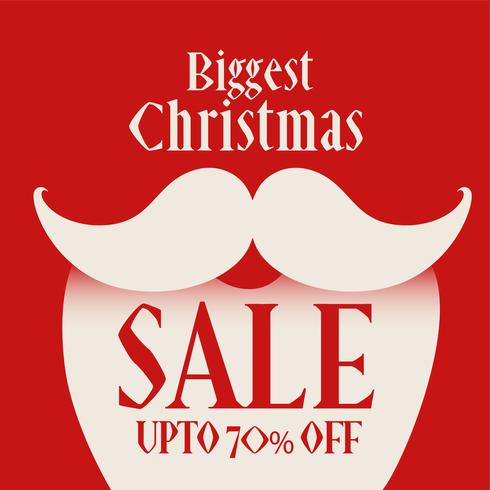 santa claus figure for christmas sale background