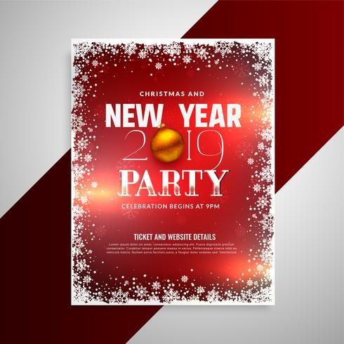 Lyckligt nytt år fest flygblad design mall