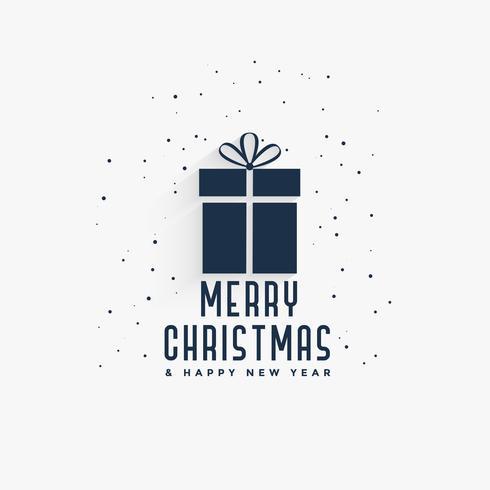 feliz navidad regalo fondo diseño