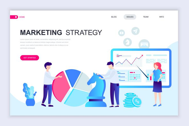 Marketing Strategy Web Banner vector