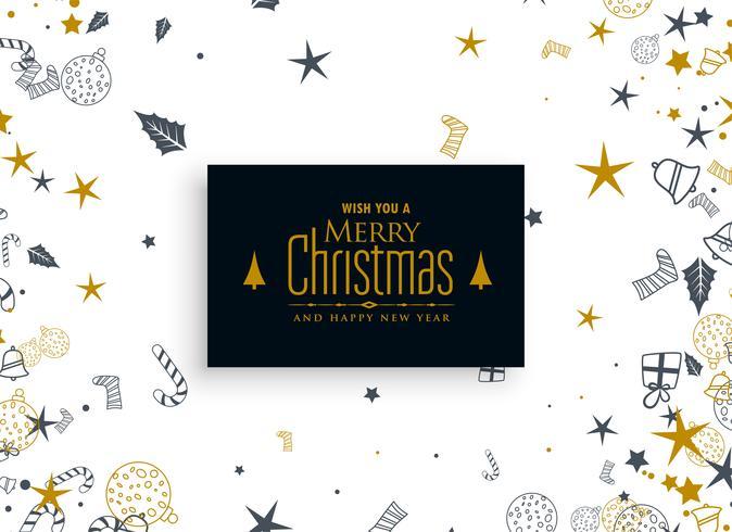 décoration d'éléments de Noël sur fond blanc