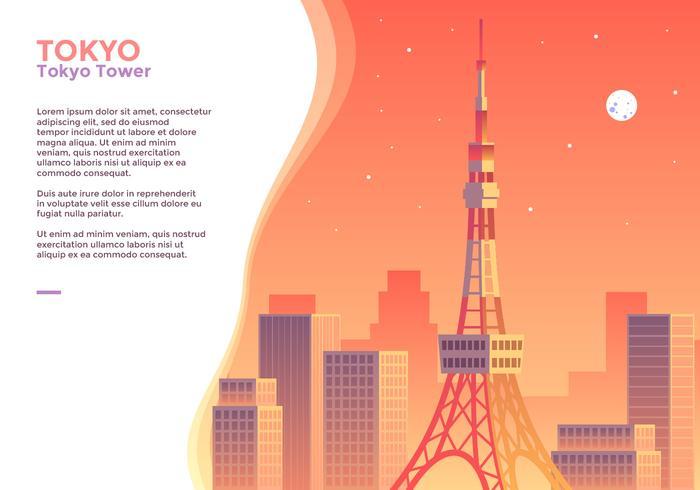 Vecteur de la tour de tokyo