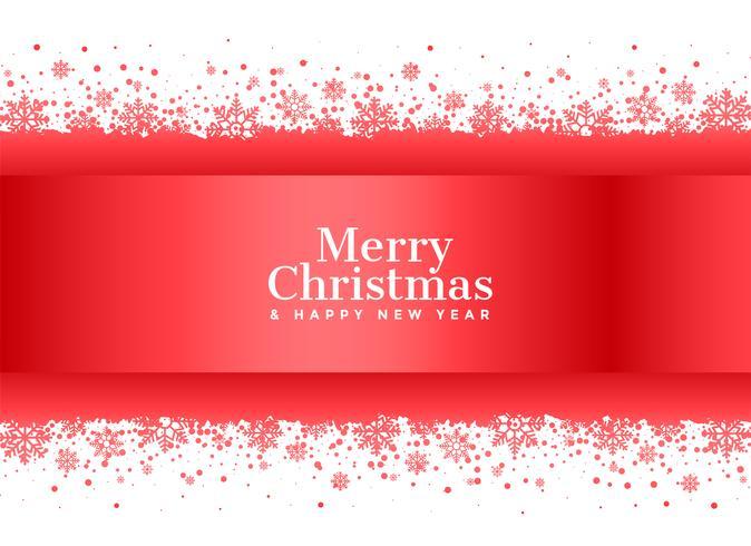 Roter Schneeflockenhintergrund der frohen Weihnachten