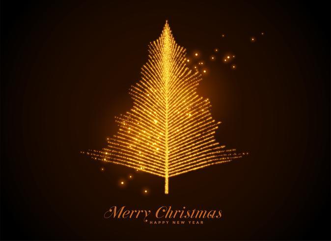 Fondo de árbol o hoja de Navidad de chispa