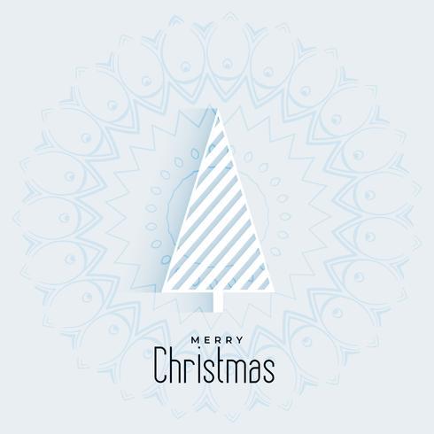 Saludo navideño minimalista con diseño geométrico de árbol.