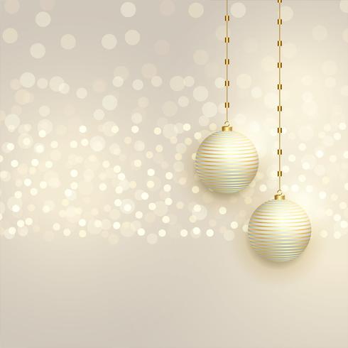belles boules de Noël sur fond de bokeh