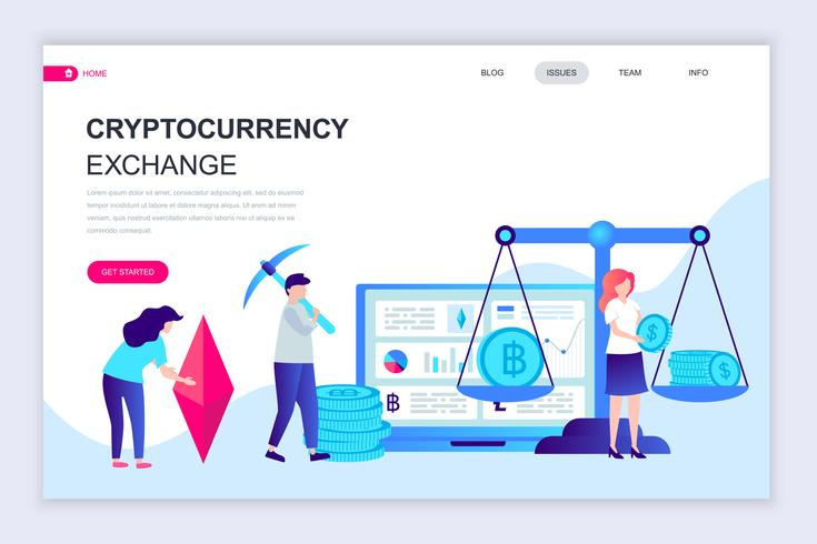 Cryptocurrency Exchange Web Banner
