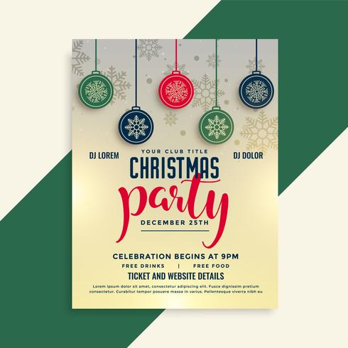 plantilla de diseño de cartel de navidad festival flyer