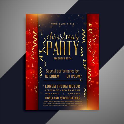 progettazione di modello di celebrazione di natale coriandoli flyer