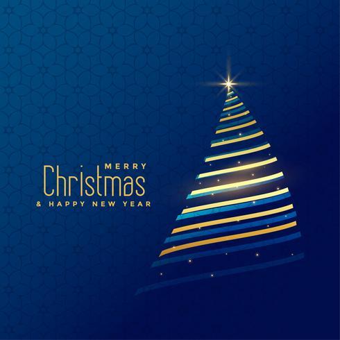 impresionante fondo de árbol de navidad de línea dorada