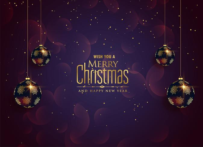 Feliz Navidad hermosa celebración de fondo