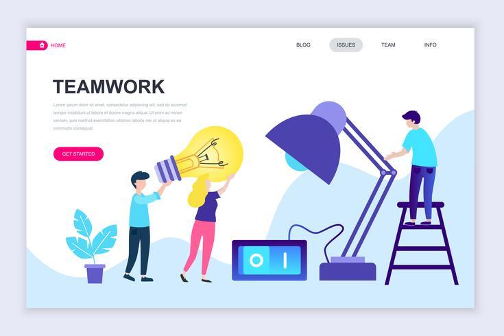 Banner de web de trabajo en equipo