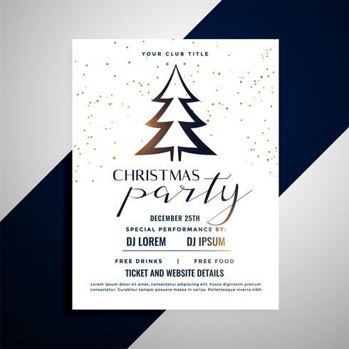 affiche de flyer de Noël propre avec arbre