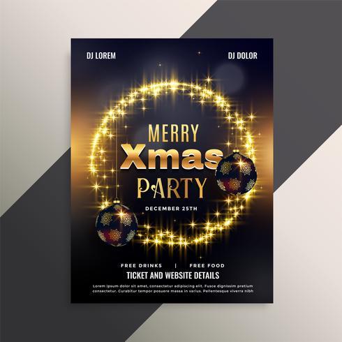 beau design d'affiche flyer de Noël brillant