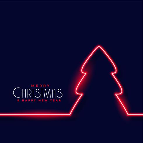 fond de sapin de Noël rouge néon