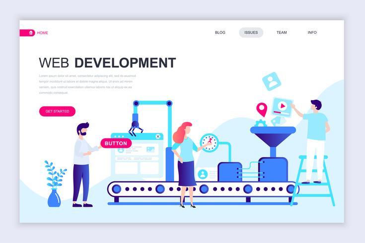 Web Development Web Banner vector