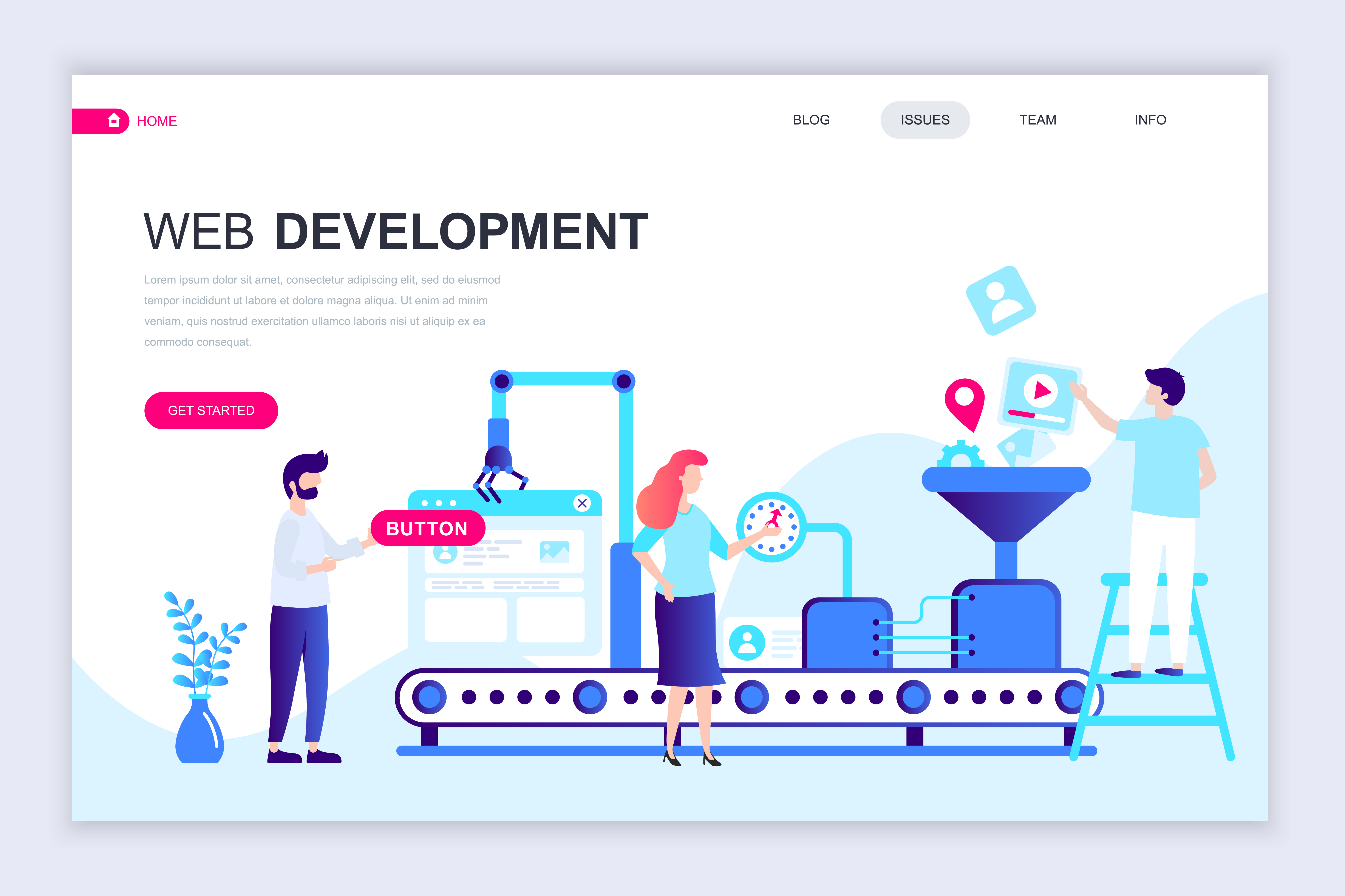 web-development-web-banner-vector Template Application Mobile Html on how make, free profile card, how create, registration form, one page, table design, layout free, free firearms,
