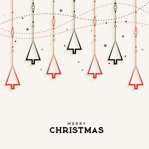 Design de fond d'arbre de Noël