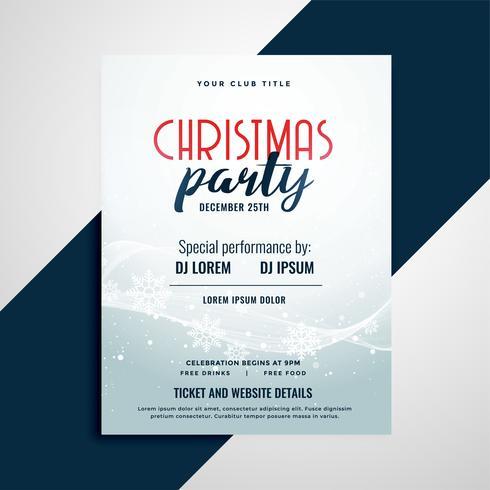 Folleto de celebración de feliz Navidad con espacio de detalles del evento