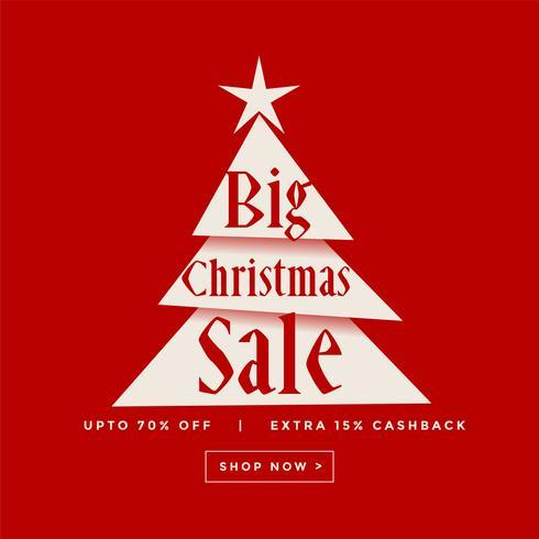 grande conception d'affiche de vente de Noël