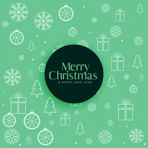 fondo verde decorativo del modello di Natale