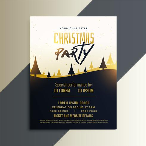 Creative Christmas Party Invitation Flyer Design Download Free