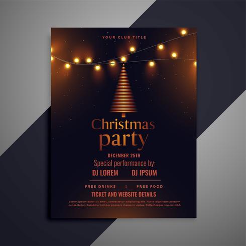 volante de Navidad oscura con luces brillantes