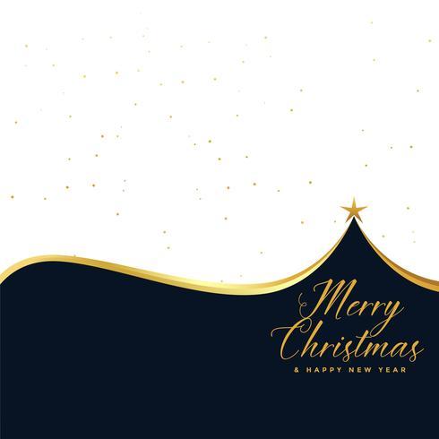 Fondo elegante saludo feliz árbol de Navidad