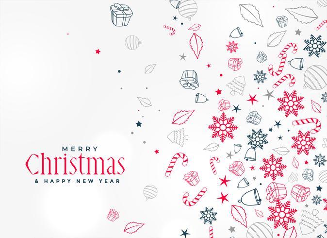 merry christmas decorative element design background